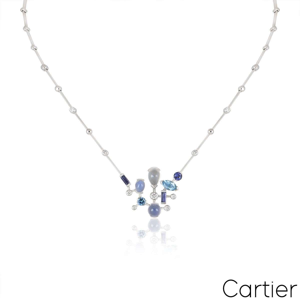 Cartier White Gold Meli Melo Necklace